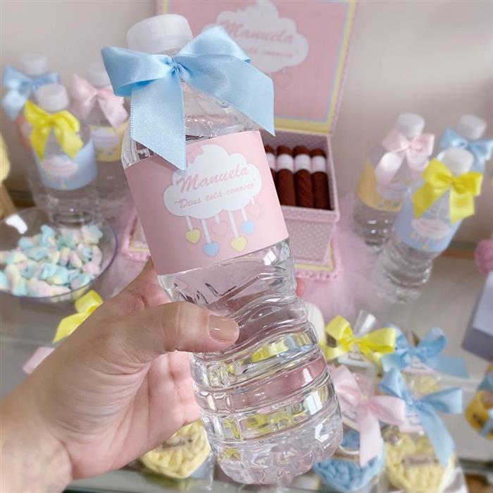 agua decorada para cha de bebe