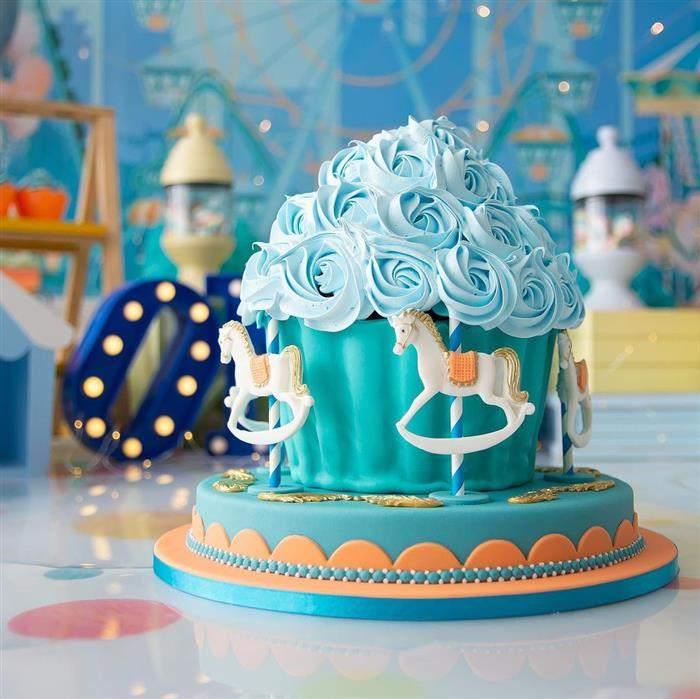 bolo smash azul