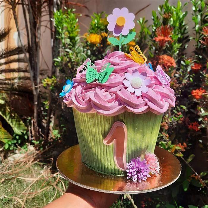 bolo smash the cake jardim encantado
