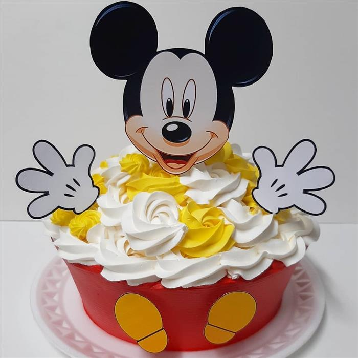 bolo smash the cake mickey