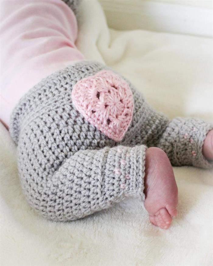 calça de croche para bebe