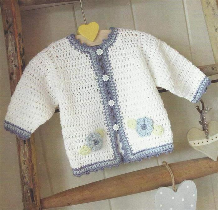 Jaqueta de bebê de croche