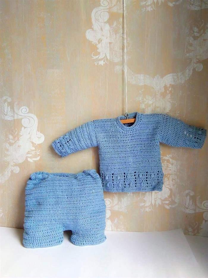 conjuntos de crochê para bebê
