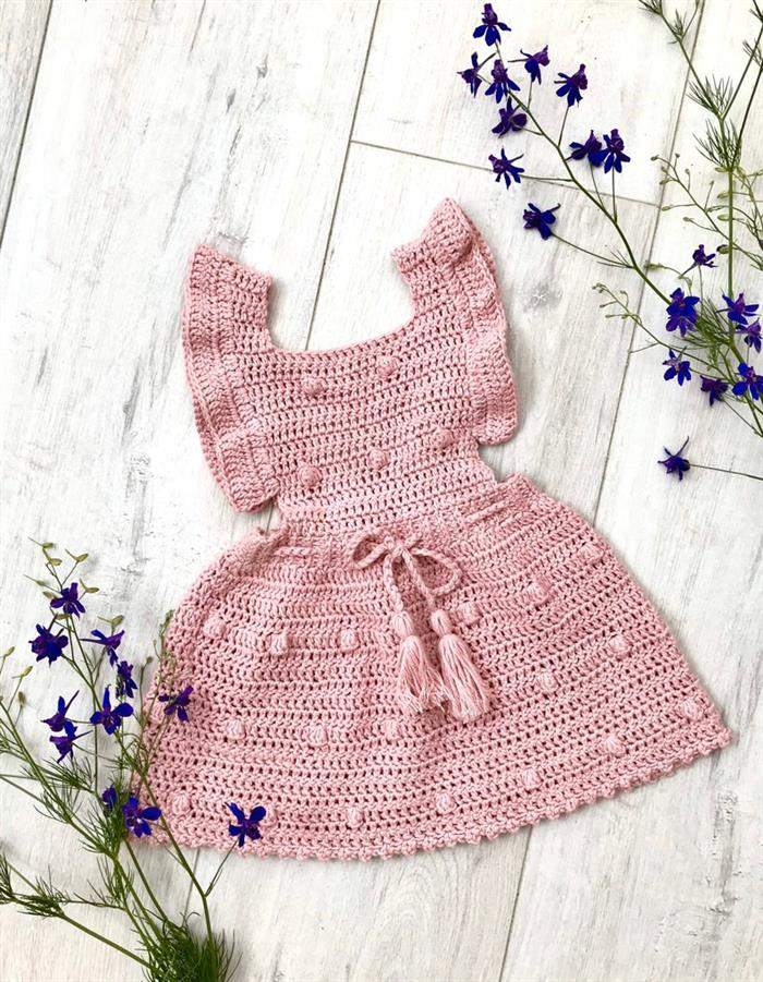 roupas de bebe de croche feminino