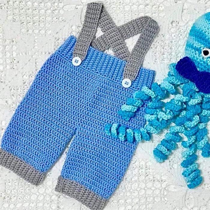 roupas de bebe de croche masculino