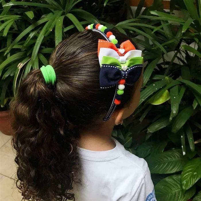 penteado com arco