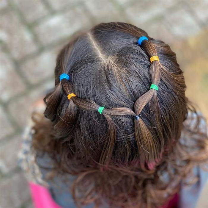 penteado infantil com borrachinha