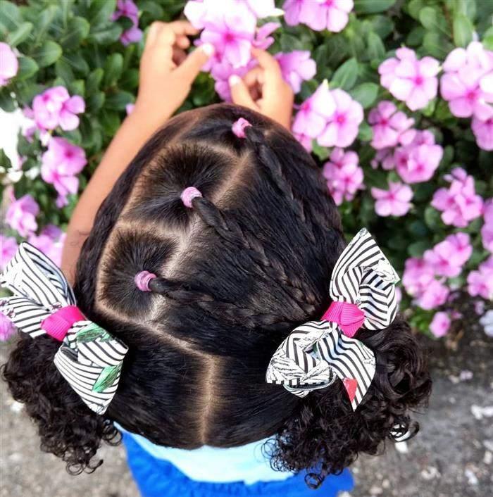penteado infantil com cabelo curto