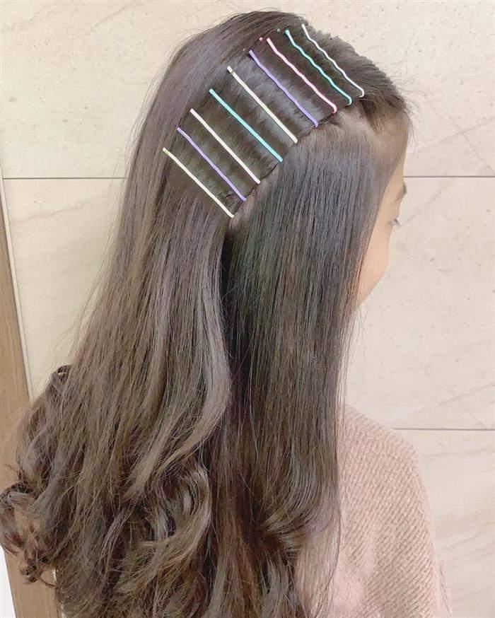 penteado infantil com grampos