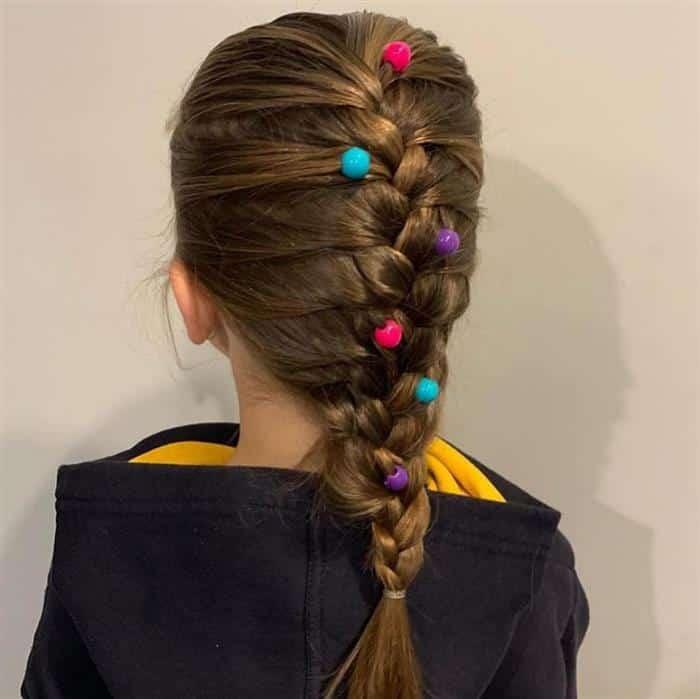 penteado infantil com trança simples