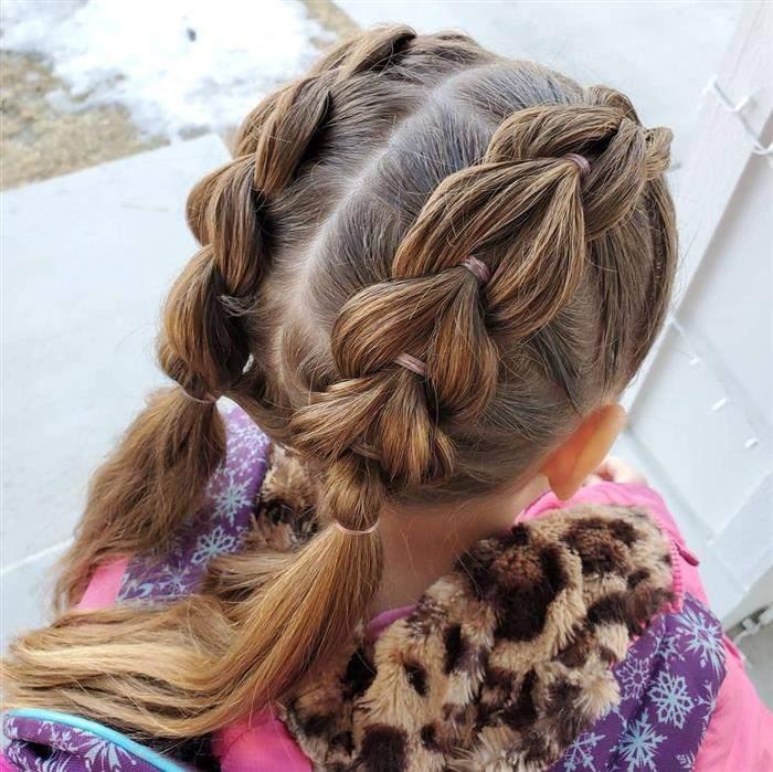penteado infantil de trança