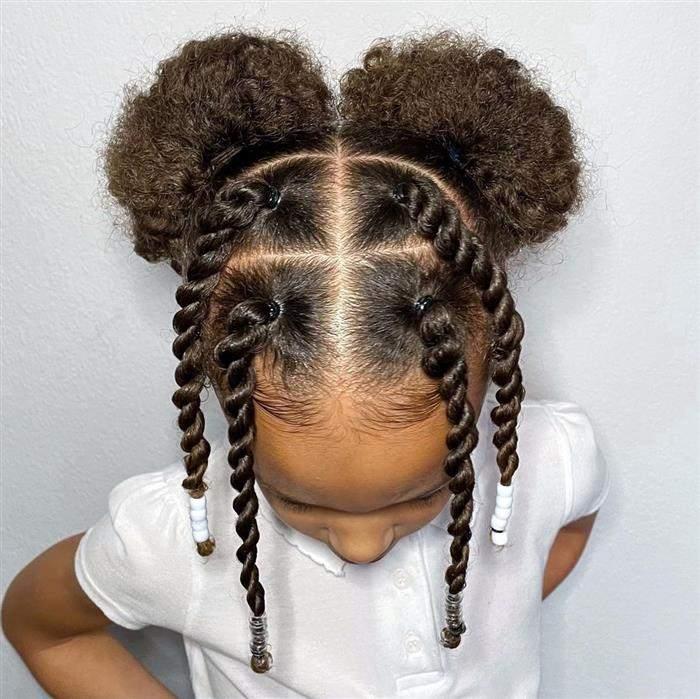 penteado infantil para escola com maria chiquinha