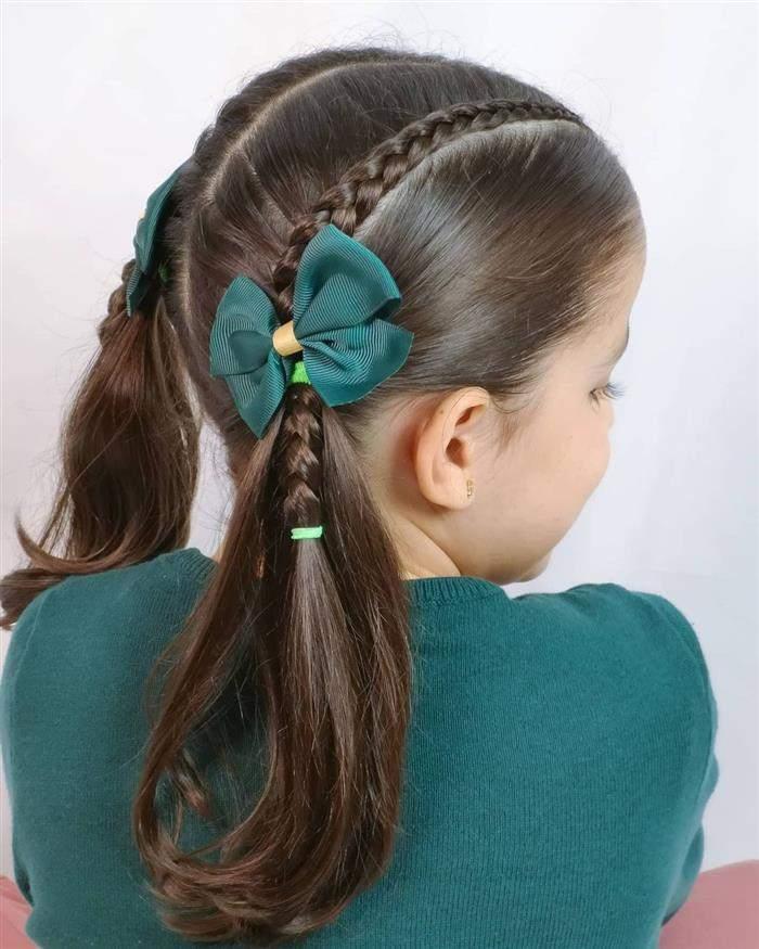 penteado infantil para escola