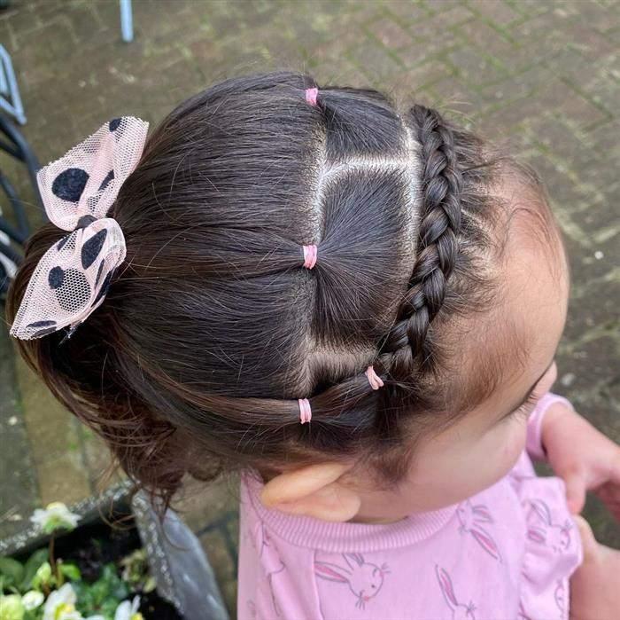penteado infantil para ir para escola