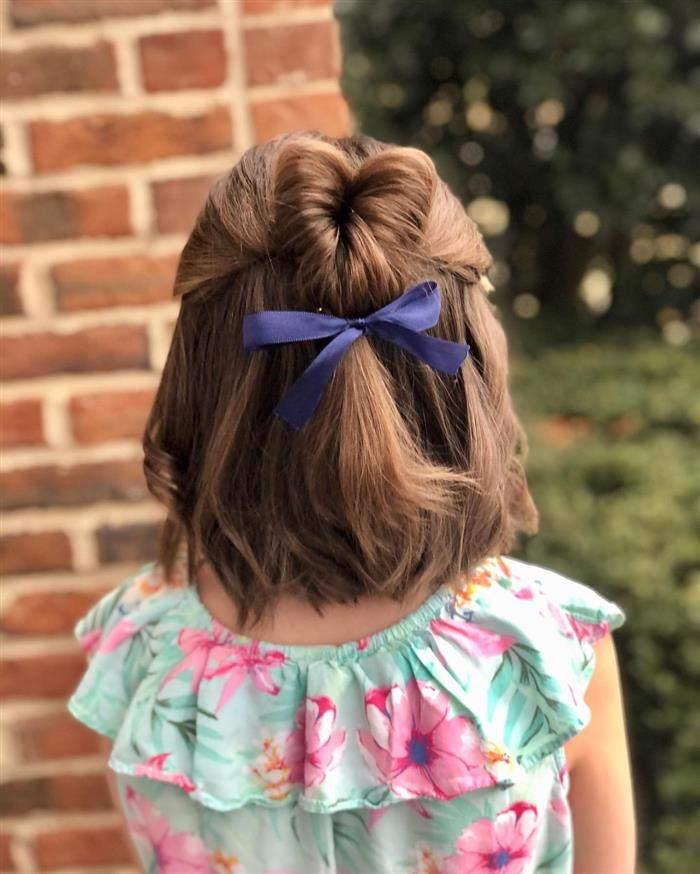 penteado infantil volta as aulas
