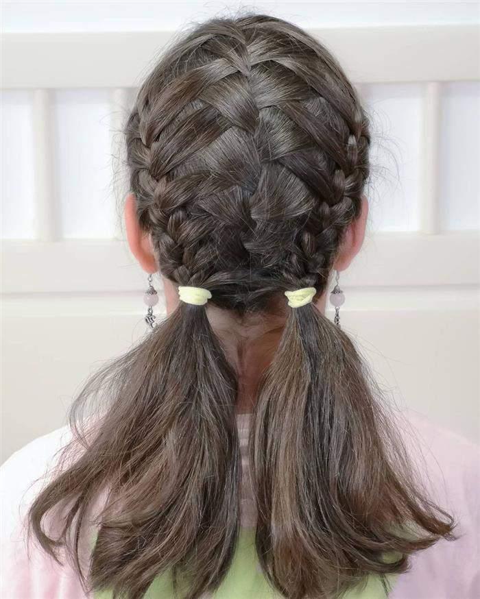 penteados infantil para escola cabelos lisos