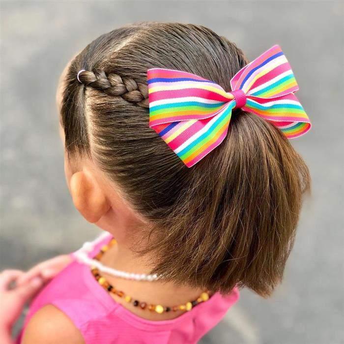 penteados infantil para escola simples