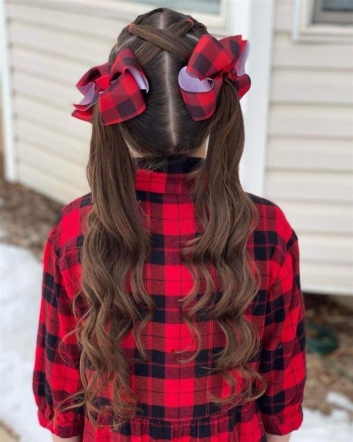 penteados simples infantil para escola