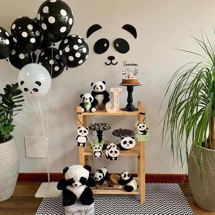 Temas de mesversário masculino de pandinhas