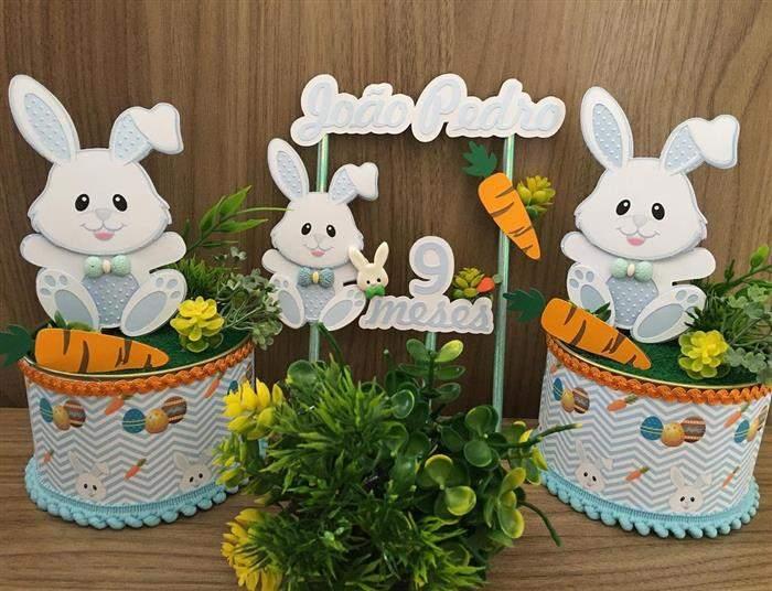 Read more about the article Mesversário Páscoa: Ideias de bolo e decoração simples