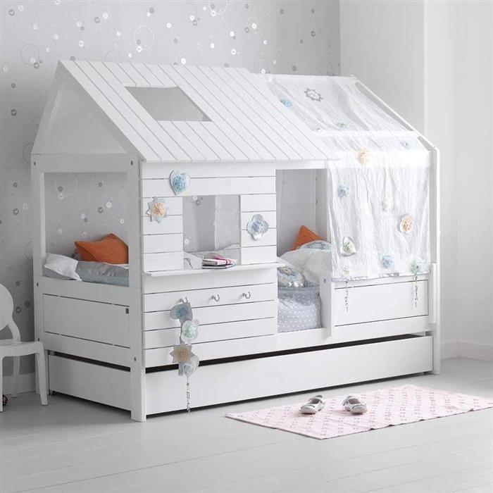 quarto de bebe cinza e branco
