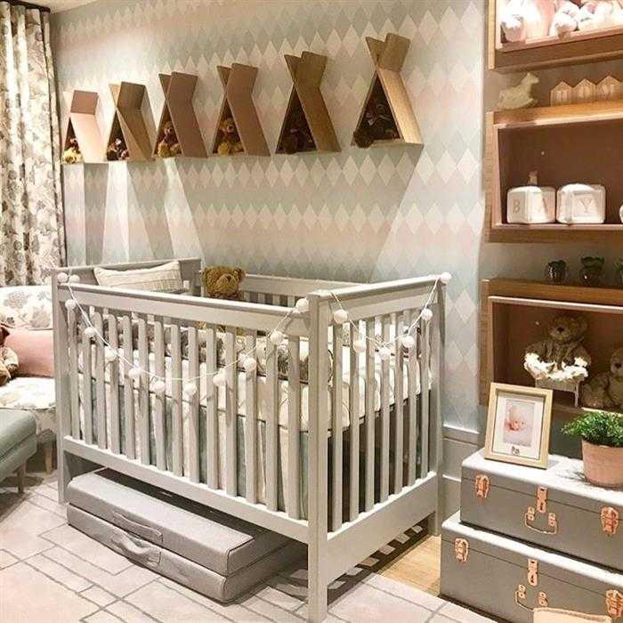 quarto de bebe cinza e rosa