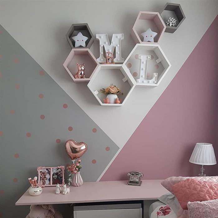 decoração de quarto infantil com nichos