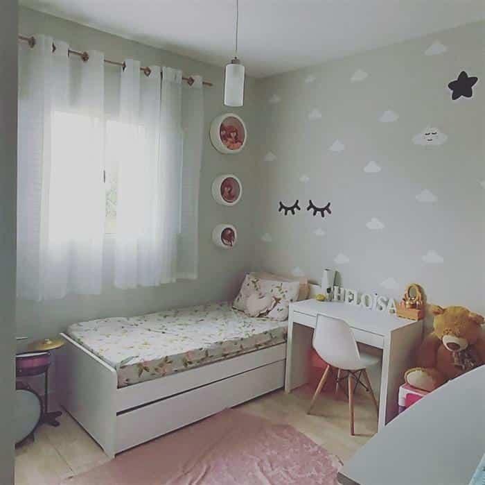decoração de quarto infantil de nuvem