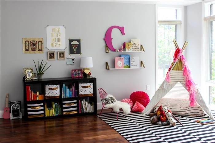 decoração de quarto infantil feminino gastando pouco cabaninha