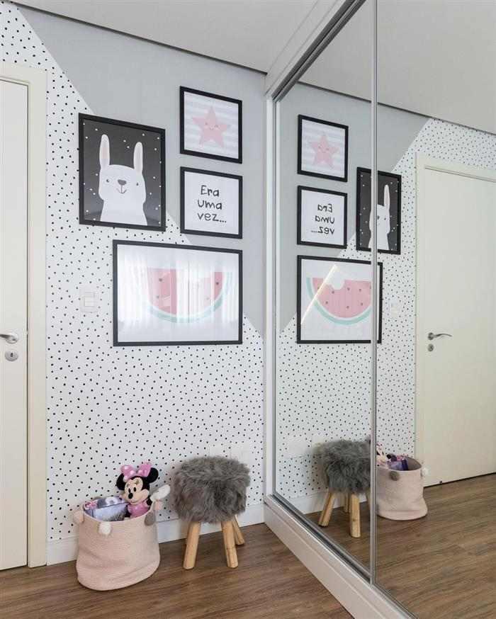 decoração de quarto infantil feminino gastando pouco com quadros