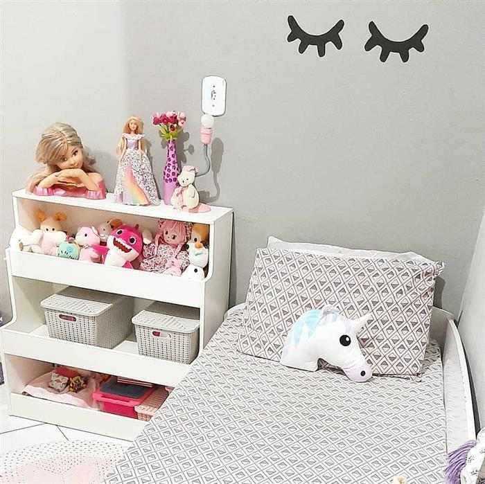 decoração de quarto infantil feminino gastando pouco unicornio