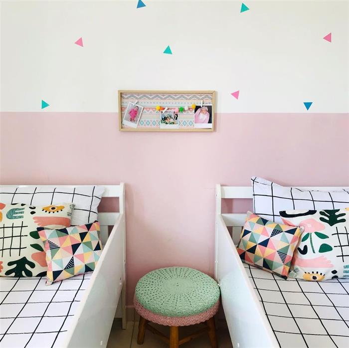 decoração de quarto infantil para duas irmãs