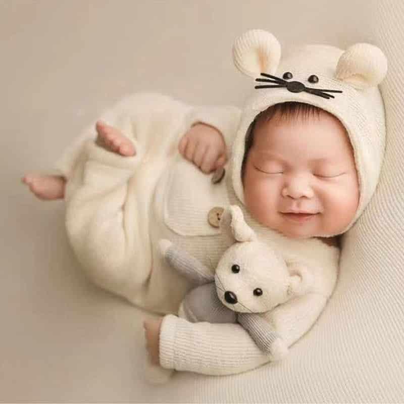 fotos criativas com bebe recem nascido