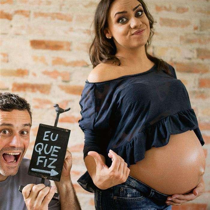 fotos de gravidez com o marido