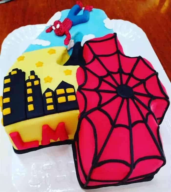 bolo do homem-aranha de aniversário