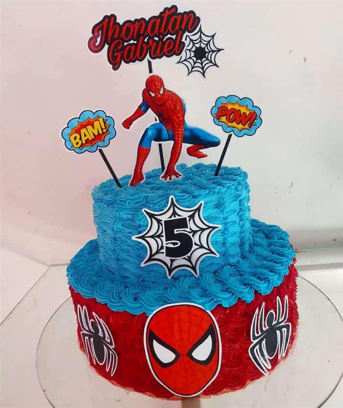 bolo homem aranha de andar