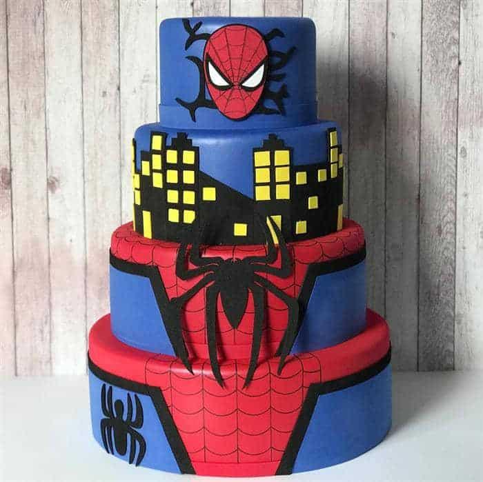bolo homem aranha de eva