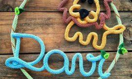Decoração infantil com tricotin: Como fazer e tutoriais