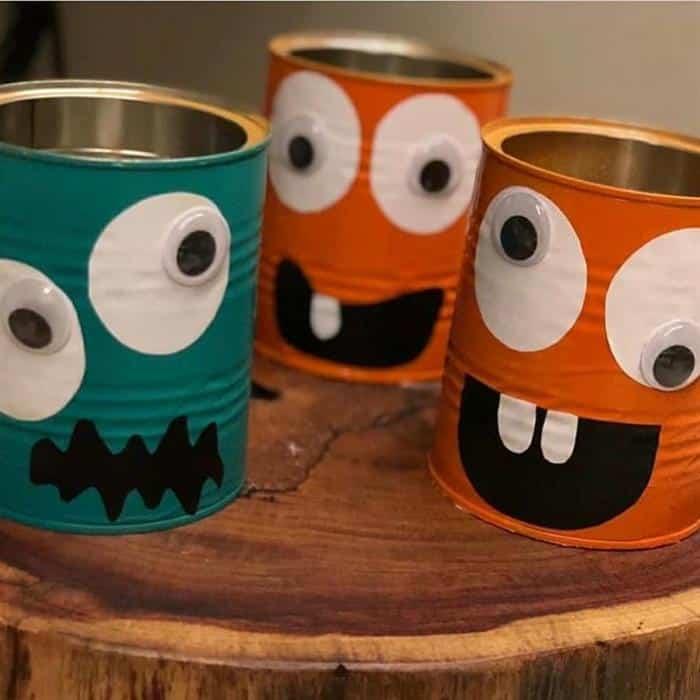 ideias halloween com material reciclado