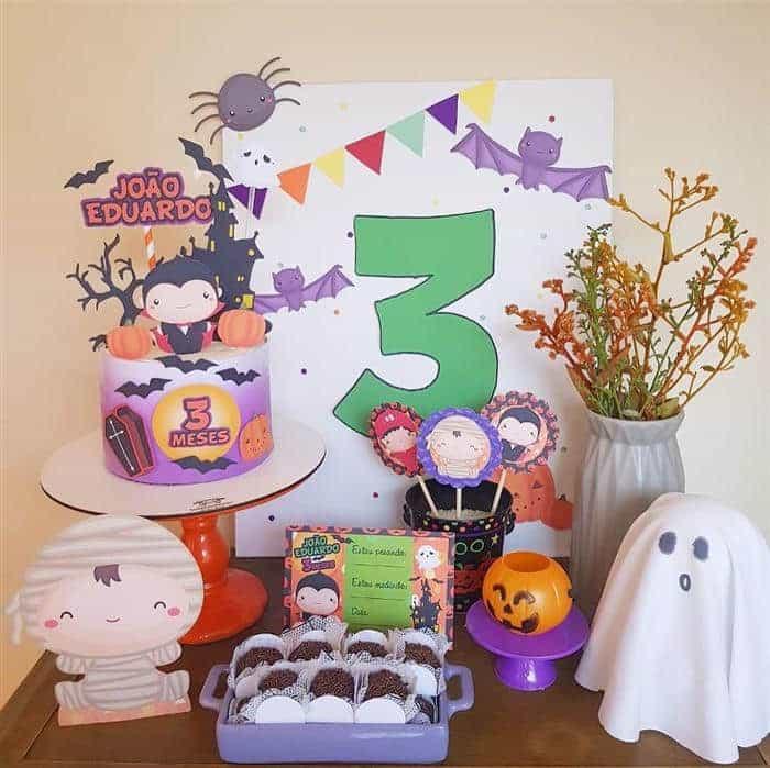 mesversario tema halloween